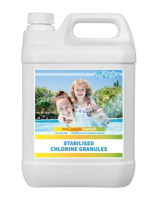chlorine granules 5kg aquasplash
