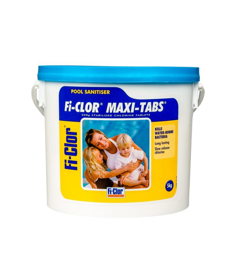 Fi-Clor Maxi-Tabs 200g Stabilised Chlorine Tablets 5kg