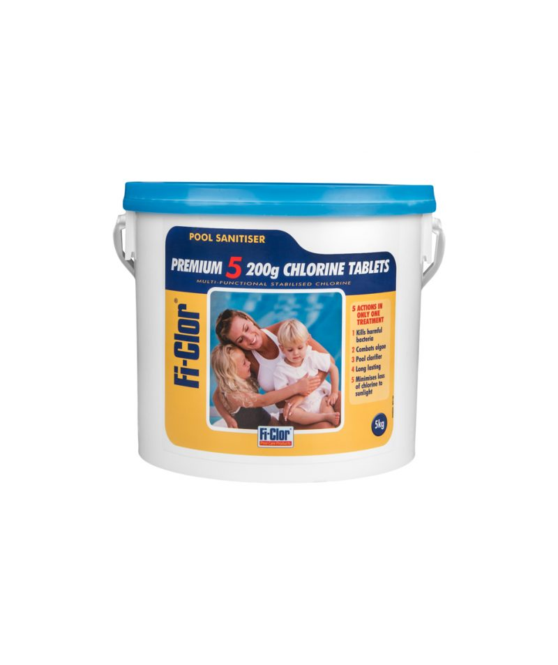 Fi-clor premium 5 200g chlorine tablets