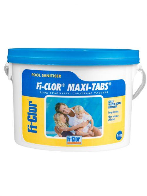 Fi-Clor Maxi-Tabs 200g Stabilised Chlorine Tablets 2.4kg