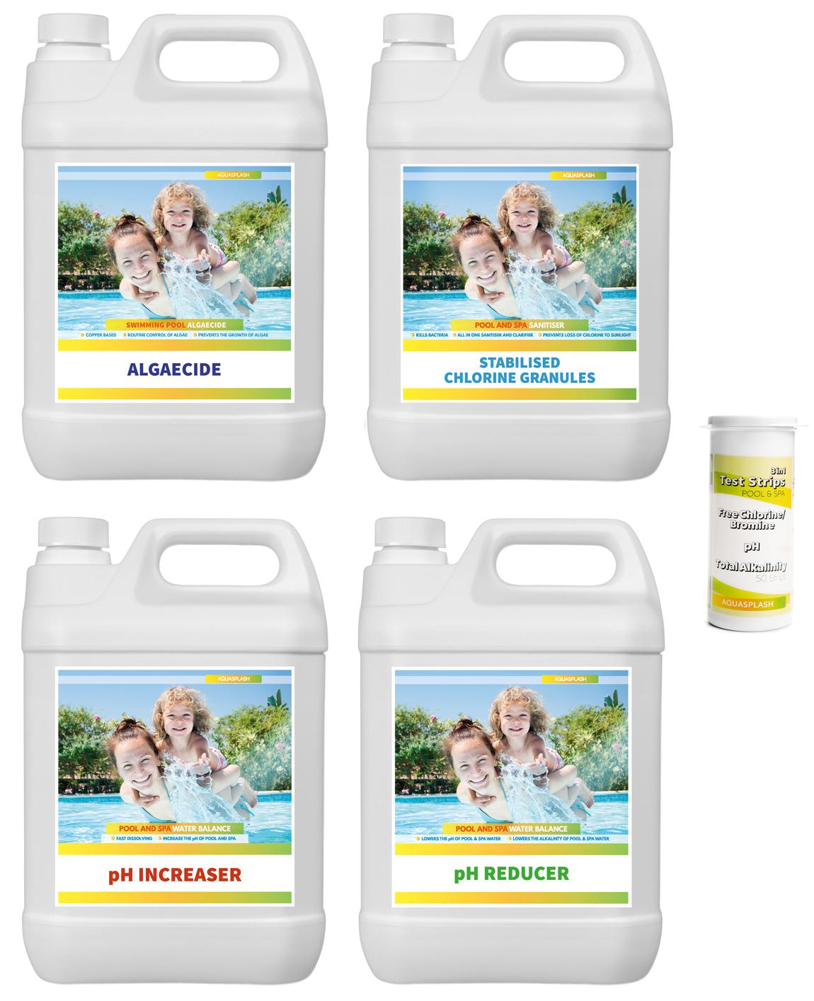 Aquasplash Swimming Pool Chemical Starter Kit Pool Amp Spa