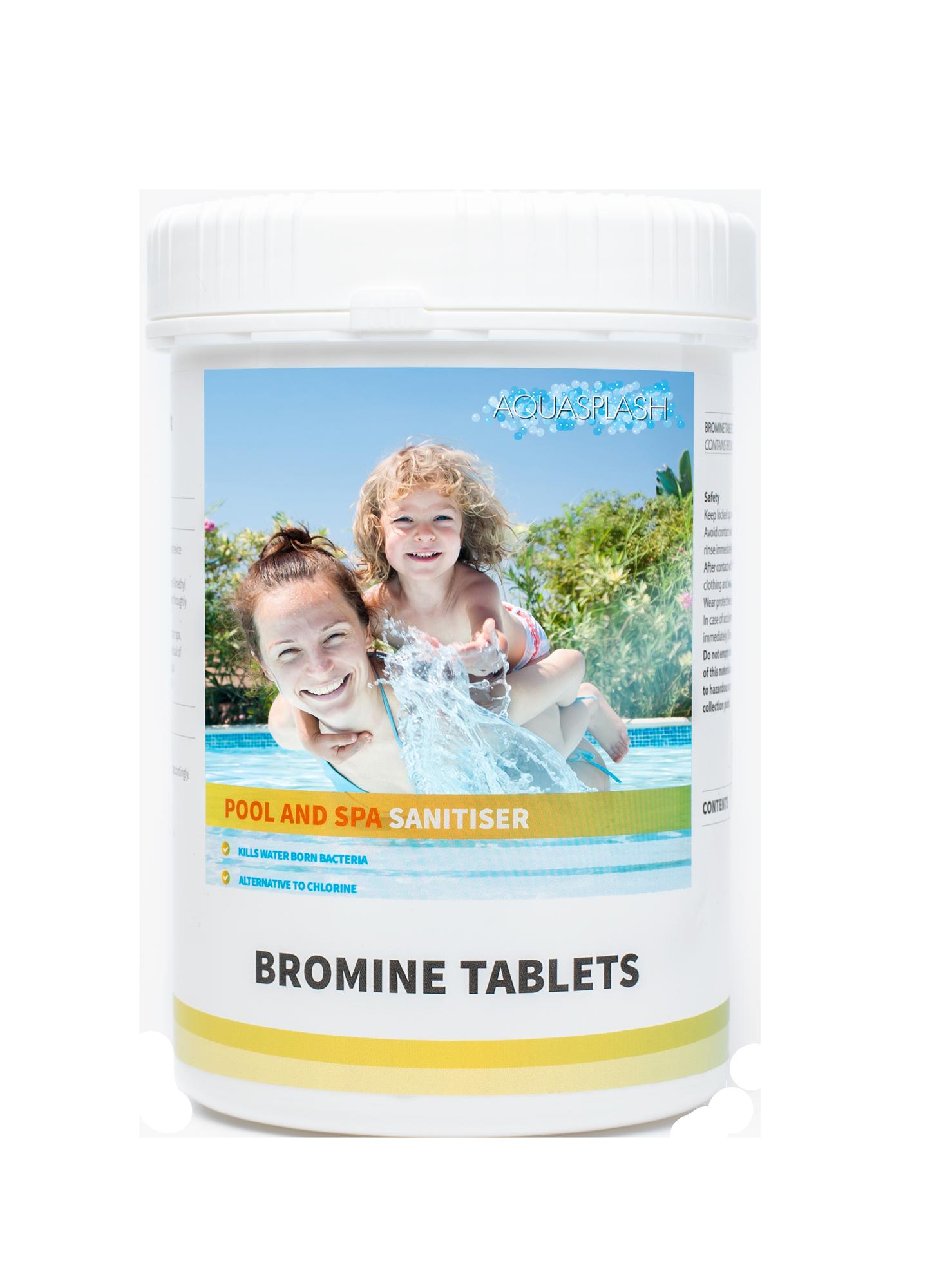 Aquasplash 1kg Bromine Tablets Pool Amp Spa Chemicals Uk