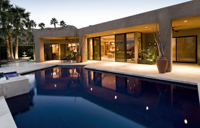 chlorine granules swimming pool house