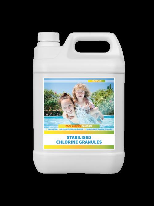 stabilised chlorine granules aquasplash UK