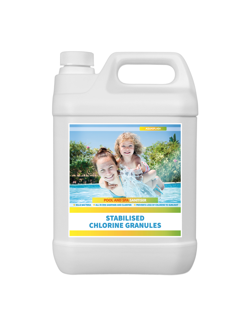 stabilised chlorine granules aquasplash UK