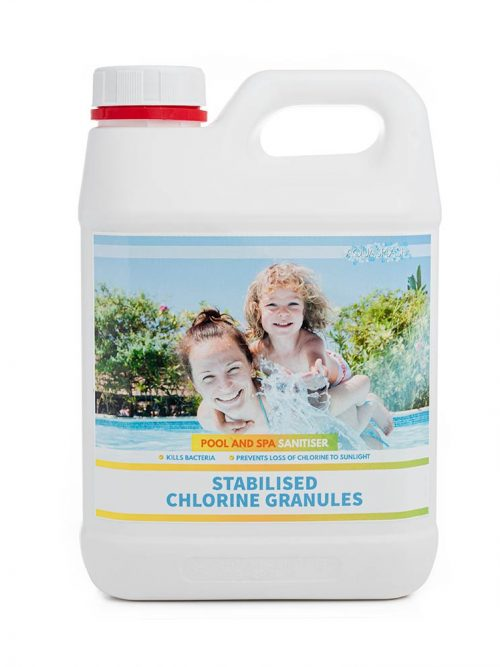 2kg aquasplash stabilised chlorine granules pool and spa chemicals