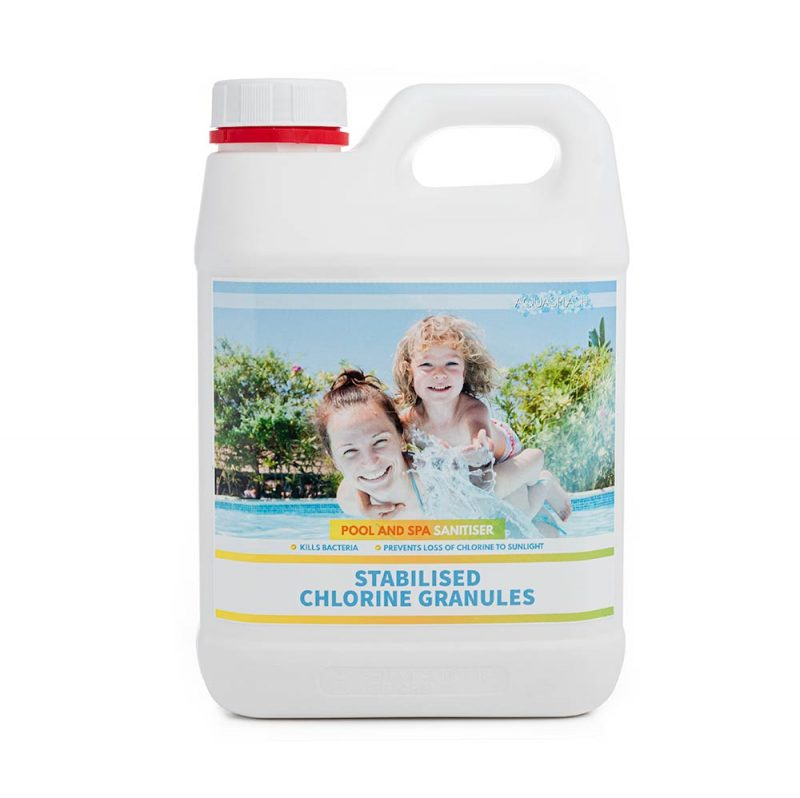 2kg aquasplash stabilised pool chlorine granules online pool chemicals
